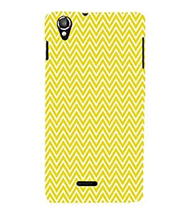 Yellow Chevron Cute Fashion 3D Hard Polycarbonate Designer Back Case Cover for Lava Iris X8