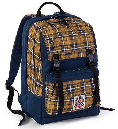 ZAINO INVICTA - DUFFY - Giallo Blue - tasca porta pc e Tablet padded - scuola e tempo libero 30 LT
