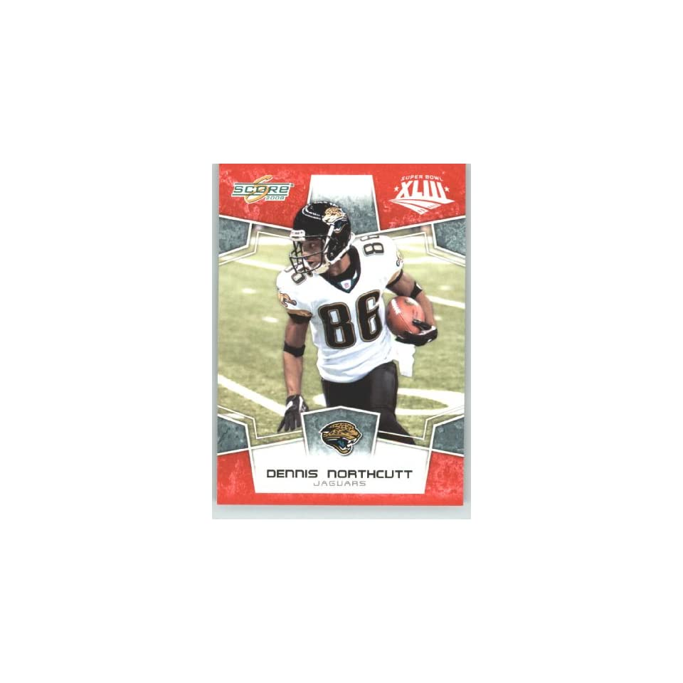 2008 Donruss / Score Limited Edition Super Bowl XLIII # 142 Dennis Northcutt   Jacksonville Jaguars   NFL Trading Card in a Prorective Screw Down Display Case