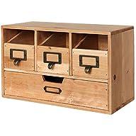 Rustic Desktop Wooden Office Organize…