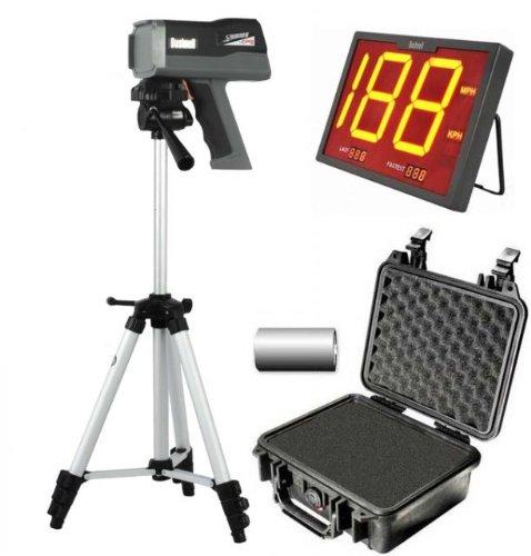 Bushnell Speedster 3 Radar Gun W/ Batteries, Pelican Hard Case, Tripod, And Wireless Speedscreen