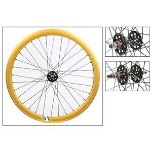 Wheel Master Origin8 Fixie Wheel Set - 700c, 32H, FX/FX, Gold/Black NMSW