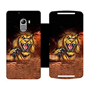 Phone Candy Designer Flip Cover with hi-res printed Vinyl sticker wrap-around for Lenovo K4 Note