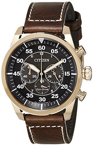 Citizen Orologio da uomo cronografo quarzo pelle Ca4213-00e