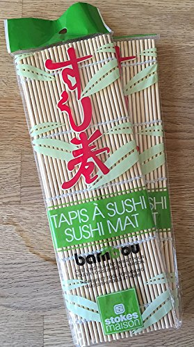[Sushi Roll Bamboo Mat (10.6 Inch Long)] (Diy Sushi Dog Costume)