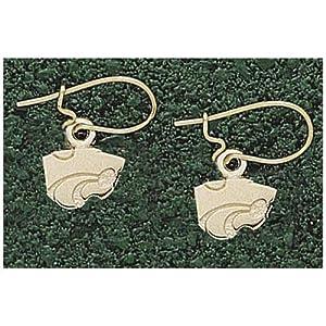 LogoArt Kansas State Wildcats 10K Gold 1 4 Dangle Earrings by Logo Art