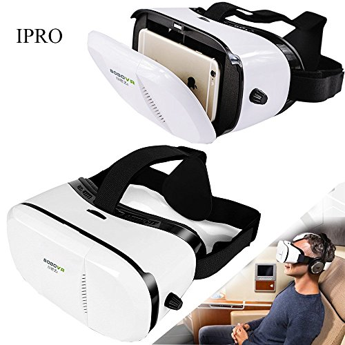 3D VR Glasses for iphone 6/6s Plus,IPRO 3D Virtual Reality Headset Google Cardboard VR Box Movie Glasses Video Games Helmet for IOS iphone&Android Samsung Galaxy s3/s4/s5/s6/s7/note 3/note3/note5