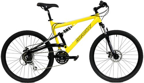 NEW IN BOX Gravity FSX 1.0 Dual Full Suspension Mountain 26 inch Wheel Bike Shimano Acera 24 Speed Bicycle