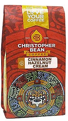 Christopher Bean Coffee Flavored Whole Bean Coffee, Cinnamon Hazelnut Cream, 12 Ounce