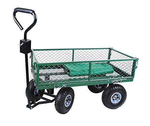 Handwagen Bollerwagen mit Plane Gartenwagen grün Handkarre Transportwagen 350 kg