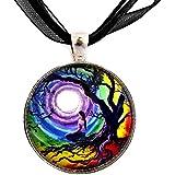 Tree of Life Meditation Necklace Handmade Jewelry Art Pendant