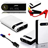 Car Jump Starter,GD2016 400A Peak 20000mAh Portable Car Jump Starter Auto Battery Booster Phone Power Bank with Smart Charging Port and LED Flashlight