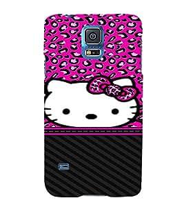 Cuty Cat 3D Hard Polycarbonate Designer Back Case Cover for Samsung Galaxy S5 Mini :: Samsung Galaxy S5 Mini G800F