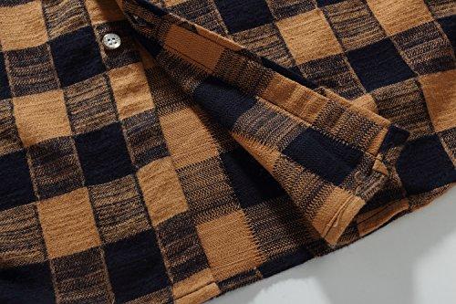 SSLR Men's Gingham Flannel Vintage Long Sleeve Shirt 5