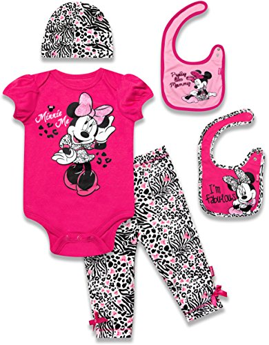 Disney Baby Girls' Minnie Mouse 5 Piece Set I'm Fabulous, Pink, 0-6 Months