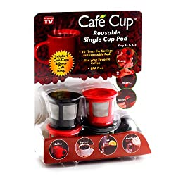 Cafe Cup Reusable Single Serve Coffee Pod, As Seen On Tv by Spark Innovators Corp