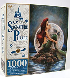 Disney Parks Exclusive Signature Ariel Little Mermaid 25th Anniversary 1000 Pc. Puzzle