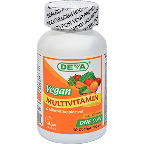 Deva Vegan Multivitamin and Mineral Supplement - 90 Coated Tablets - Gluten Free - Dairy Free - Yeast Free - Wheat Free - Vegan (Yeast Free Multivitamin compare prices)