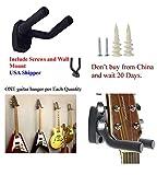 Guitar Hanger Hook Holder Wall Mount Display - Fits all size Guitars, Bass, Mandolin, Banjo, etc.