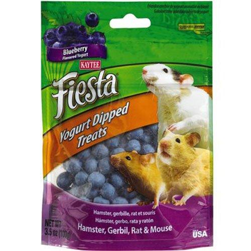 Kaytee Fiesta Blueberry Flavor Yogurt Dipped Treats for Hamster, Gerbil, Rat and Mouse, 3.5-oz bag (Yogurt Hamster compare prices)