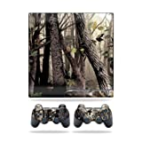 Mightyskins Protective Vinyl Skin Decal Cover for Sony Playstation 3 PS3 Slim skins + 2 Controller skins Sticker Tree Camo