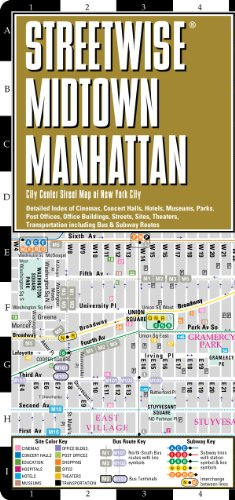 Streetwise Midtown Manhattan Map - Laminated City Street Map of Midtown Manhattan New York093503983X : image