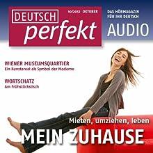 Deutsch perfekt Audio - Mein Zuhause. 10/2012 Audiobook by  div. Narrated by  div.