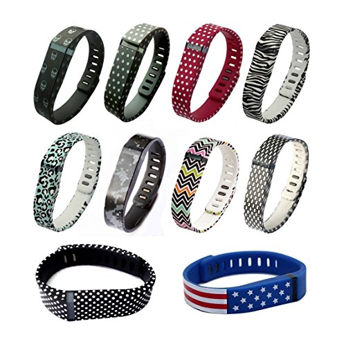Small S Spots Replacement Band With Clasp for Fitbit FLEX Only /No tracker/ Wireless Activity Bracelet Sport Wristband Fit Bit Flex Bracelet Sport Arm Band Armband (1pc Band + 1pc Clasp)