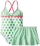 Baby Buns Little Girls  Dotty Illusion One Piece Swimsuit