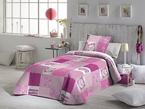 Fundeco - Colcha Bouti DIDI - cama de 90 cm. Color Unico