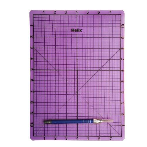 Helix Craft Cutting Mat With Craft Knife, Purple, 9 X 12 Inch, Purple (37056)