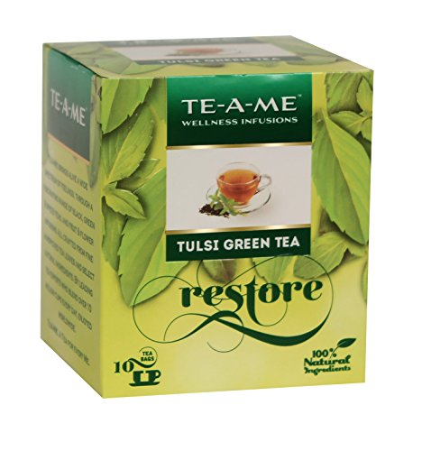 TE-A-ME Wellness Infusion, Tulsi Green Tea, 10 Tea Bags