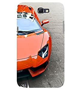 D KAUR Luxury Cars Brand Back Case Cover for Samsung Galaxy Note 2::Samsung Galaxy Note 2 N7100