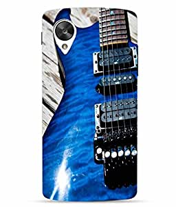 Case Cover Guitar Printed Blue Hard Back Cover For LG Google Nexus 5X