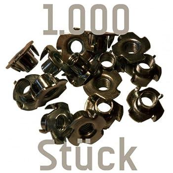 1000 Einschlagmuttern M10 zum Kletterwandbau (für prises d'escalade)