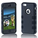 Case Ace(TM) Colorful Heavy Duty Hybrid Rugged Hard Case Cover For Apple iPhone 5C (Black) Reviews