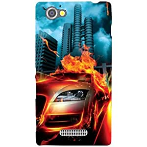Sony Xperia M Back Cover - Blaze Car Designer Cases