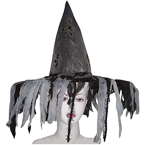 Deluxe Tattered Witch Hat - One Size