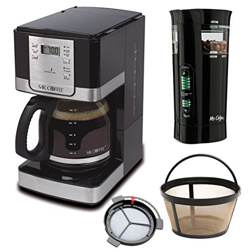 Mr. Coffee Programmable Coffee Maker and Bonus Grinder, 12 Cup