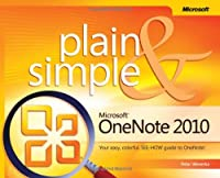 Microsoft OneNote 2010 Plain & Simple Front Cover