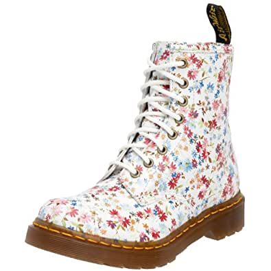 Dr. Martens 1460 Little Flowers BLUE 11821407 Damen Bootsschuhe, Blau (blue), EU 37