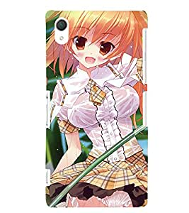 Fuson 3D Printed Girly Designer back case cover for Sony Xperia Z2 - D4166