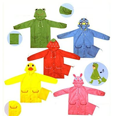 LW Funny Animal 3D Kids Raincoat,5 Colors