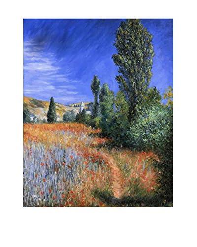 LegendArte Panel Decorativo Sobre Lona Paesaggio A Saint-Martin di Claude Monet