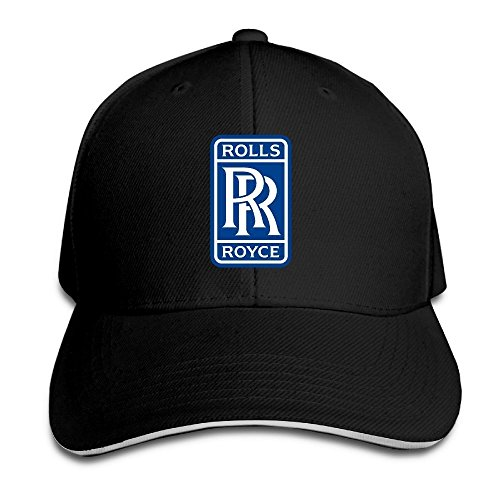 hittings-rolls-royce-sandwich-baseball-caps-for-unisex-adjustable-black
