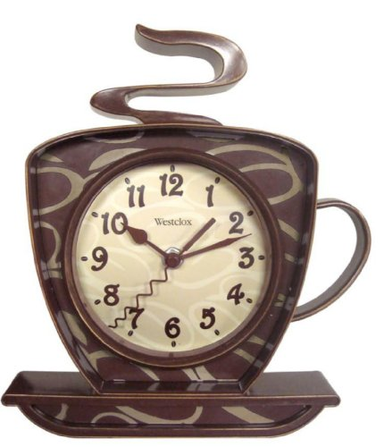 Westclox 32038 Coffee Mug Quartz Wall Clock