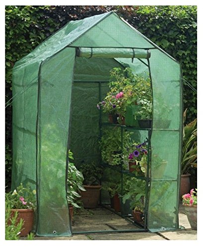 "Happy Planter Walk-in Portable Greenhouse with Shelving, 6'3"" x 4' x 6'3"""