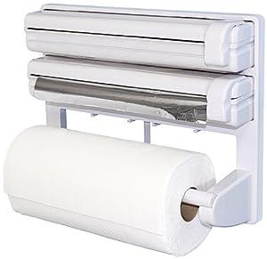 fackelmann 45310 triple d rouleur film plastique papier aluminium sopalin cuisine. Black Bedroom Furniture Sets. Home Design Ideas