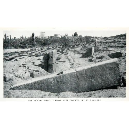 Amazon.com: 1912 Print Stone Quarry Baalbek Temple Jupiter Megaliths