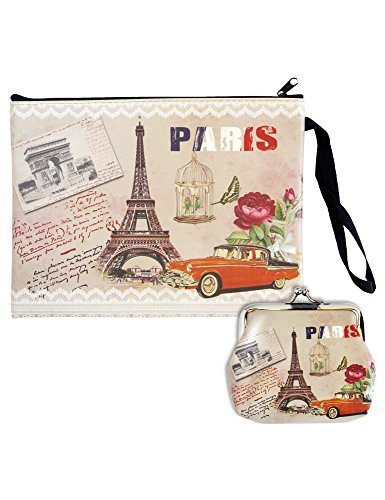 Digital Print Faux Leather Wallet and Coin Purse - 2pcs set